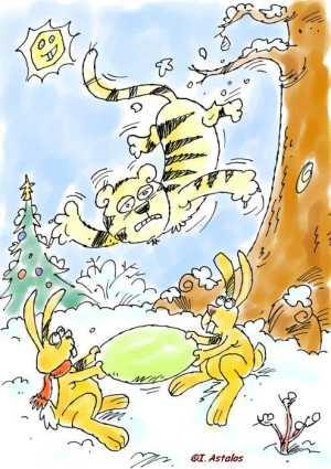 >>Tiger Übermü beim Sturz<< von I. Astalos